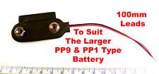 Gute Qualität PP9 und PP1 100mm Schwarz und Rot Batterie Kabel Snap On OM1157