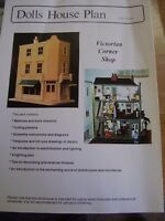 VICTORIAN DOLLS HOUSE MODEL PLAN 1/12 SCALE VICTORIAN CORNER SHOP APPROX 50 PAGE