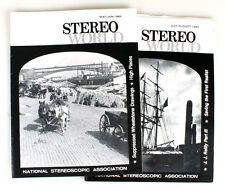 STEREO WORLD MAGAZINE, THE NATIONAL STEREOSCOPIC ASSOCIATION, 1985 SET OF 2