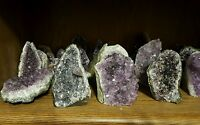 Purple Amethyst Church Cathedral Crystal Geode Cluster display