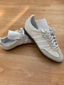 BNWOB Adidas Originals Samba Classic OG VTG White Trainers UK 9 US 9.5 EU 43 1/3
