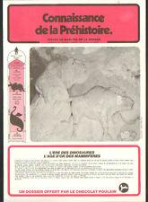 ALBUM avec 13 IMAGES CHOCOLAT POULAIN / CONNAISSANCE DE LA PREHISTOIRE