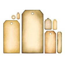 Sizzix Framelits Cutting Die 8PK - TAG COLLECTION by Tim Holtz 658784