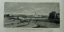 1877: ROMA,ACQUEDOTTO ANTICO-St.CROCE DI GERUSALEMME.Xilo o in Passepartout ETNA