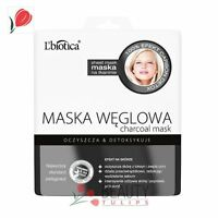 L'Biotica Charcoal Black Face Mask on Fabric Cleansing & Detox 23ml