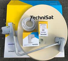 TechniSat Satanlage 650plus beige mit UnySat Quad-LNB (4Teilnehmer)Neu 10m