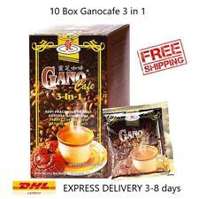 10 BOX  x 20 sachet Gano Excel Cafe 3 in 1 of Coffee Ganoderma Reishi Halal