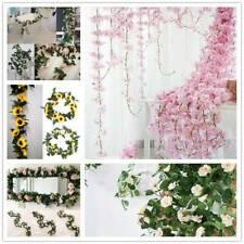 Artificial Flowers Silk Rose Flower Fake Vine Ivy Hanging Garland Floral Wedding