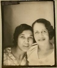 Antique African American Sisters Lovely Hair Photo Booth Picture Black Americana