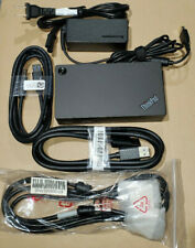 New listing Lenovo Thinkpad Usb 3.0 Pro Dock, Type:40A7, Model:Dk1522 + (3) New Cables & Ac