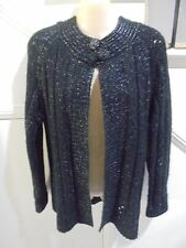 MILLERS SIZE L 16 BLACK MOHAIR JACKET 'PERFECT'