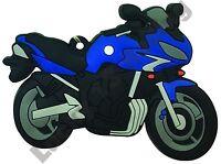 Yamaha FZ6 Fazer rubber key ring motor bike cycle gift chain keyring blue black