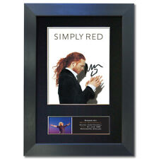 More details for simply red mick hucknall signed mounted reproduction autograph photo print4 823