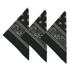 3-12PCS Cotton Paisley print scarf bandana handkerchief head Neck wrap bandanna