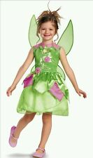 Disney Fairies Tinker Bell Dress Up Halloween Costume with Wings Size 10-12