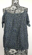 Bailey/44 Women Top Size S NWT Floral Cut Outs Open Shoulders 100% Rayon
