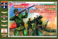 Orion Models 1/72 SOVIET QUAD MAXIM AA MACHINE GUN AND CREW Figure Set
