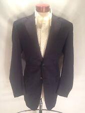 F481 Whitcomb & Shaftesbury Custom Blazer Sports Coat 44 Navy Pick Stitching