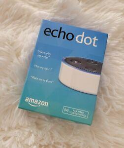 New! Amazon Echo Dot Smart Speaker with Alexa Voice Control 2nd Generation White