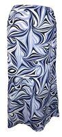 Hobbs Purple 100% Linen Skirt Aline Elasticated Waist UK 12 Midi Vintage