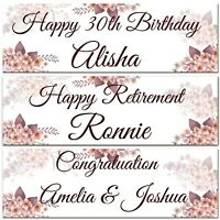 2 personalised birthday banner retirement wedding celebration party poster