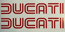Ducati Vinyl Decals. One Pair. Red. Or Choose Your Color