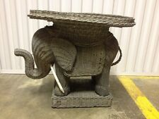 Vintage Boho Chic Elephant Side Accent End Table Plant Stand Home Decor Kitsch