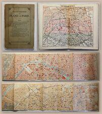 Baedeker Strassenverzeichnis und Pläne von Paris 1888 Frankreich Reiseführer xz