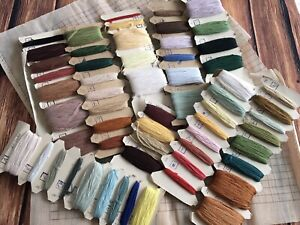 250g Lot Vintage H. Embroidery Stranded Cotton Threads 3xCanvas Tapestry Gobelin
