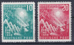 1949 Bundestag - Bonn 111 - 112 Postfrisch ** MNH