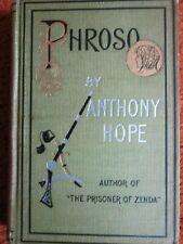Phroso: A Romance by Anthony Hope HC Good 2d ed. 1897, illustr. Henry Wechsler