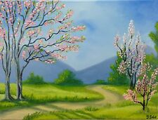SPRING BLOSSOMS ORIGINAL OIL PAINTING HANDMADE FINE ART DIRECTLY FROM ARTIST