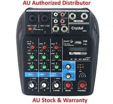 Crystal Labs 4 Channel USB Digital Audio Mixer Console with Bluetooth - AU Stock