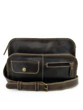 CAMERA BAG ZIPPER SATCHEL VINTAGE INSPIRED - Brown, Medium, Messenger Bag