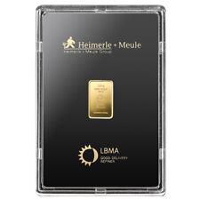 Goldbarren 2,5 Gramm im Blister Heimerle + Meule