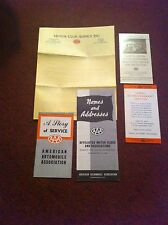 Collection of 5 vintage AAA car insurance pamphlets circa 1940's 50's see pics