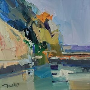 JOSE TRUJILLO Oil Painting IMPRESSIONISM Contemporary COLLECTIBLE RIVER