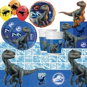 Jurassic World Dinosaur Party Tableware, Decorations, Balloons & Party Bags