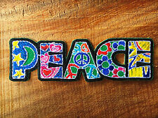 Peace sign hippie boho retro flower love hippy applique iron on patch