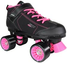 Limited Edition Pacer Gtx 500 Black and Pink Quad Roller Skates - Size 4; Ec
