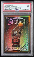 1996-97 Topps Finest Refractor #50 Michael Jordan, PSA NM 7