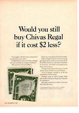 1964 Chivas Regal Scotch Whisky Strathisla-Glenlivet One Dollar Bills Print Ad