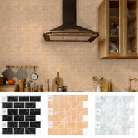 3D Mosaic Wall Sticker Self Adhesive Tile Brick Sticker Kitchen Bathroom Decor