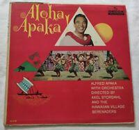 ALFRED APAKA LP ALOHA APAKA 33 GIRI VINYL USA 1962 DECCA DL4150 NM/VG+