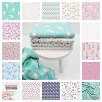 Cat Unicorn & Elephant Children Nursery Fabric 100% Cotton Dressmaking OEKO-TEX