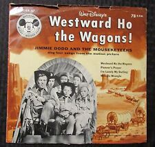 """1956 The Mouseketeers – Westward Ho The Wagons! 10"""" Mono 78rpm VG/GD+ DBR-67"""
