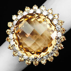 Morganite Peach Orange Oval 21.30 Ct. 925 Sterling Silver Rose Gold Ring Size 6