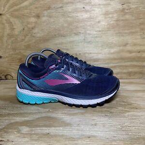 Brooks Ghost 10 Women's Running Shoes Size 10 B Blue Pink 1202461B451