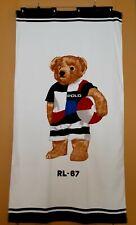 Polo Bear by Ralph Lauren Home Surfer Bear Beach Towel Original Authentic New