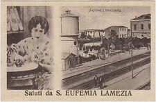 SALUTI DA S.EUFEMIA LAMEZIA - STAZIONE E PANORAMA (CATANZARO) 1941